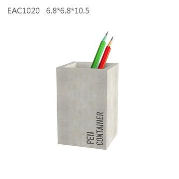 China Luxury Office Supplies Fancy Concrete Pen Containe