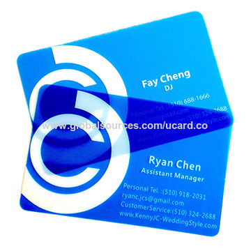 China transparent plastic business cards with qr code on global sources transparent plastic business cards china transparent plastic business cards colourmoves