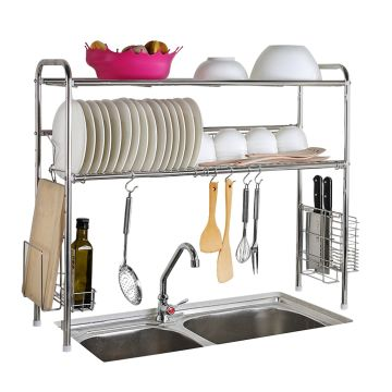 1208s Dish Dryer Rack 2 Tier Stainless Steel Sink Storage