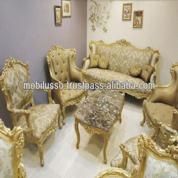French louis xv royal sofa set global sources for Salon egyptien