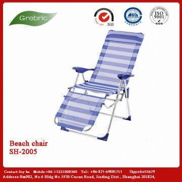 China Lafuma Rsx Xl Padded Black Folding Chair Recliner For Beach Enjoy Shc1101