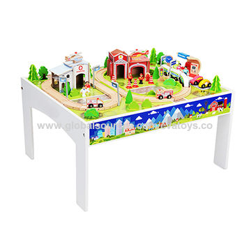 ... China 100pcs wooden table with train set  sc 1 st  Wenzhou Times Artsu0026crafts Co. Ltd - Global Sources & China 100pcs wooden table with train set from Wenzhou Other: Wenzhou ...