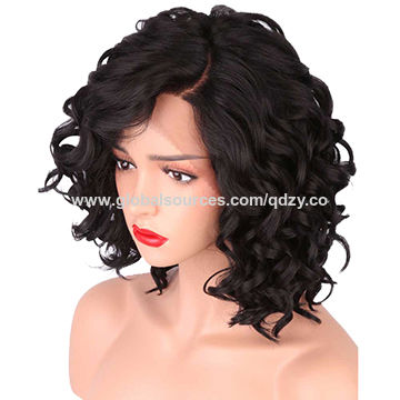 China Short Body Wave Synthetic Lace Front Wigs for Women L-shape with  Natural Hairline ... cf6eecdec8