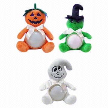 china novelty touch on plush toy lamps for halloween