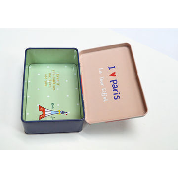 China Gift tin box, CMYK printing as your design, big factory, available in various sizes