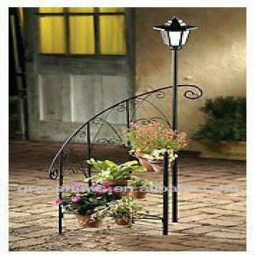 Spiral Solar Lamp Post Planter Global Sources