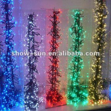 288 LED Cluster LED Christmas Lights Sale 1.7m Green | Global Sources