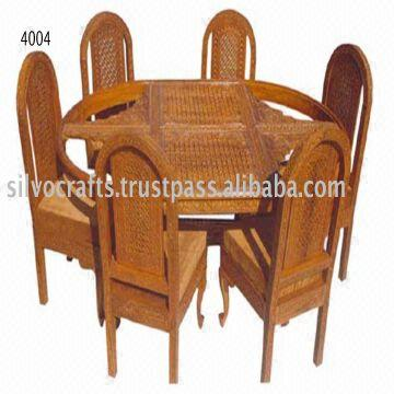 India Indian Teak Wood Hand Carved Dining Room Set Restaurant Furniture Table