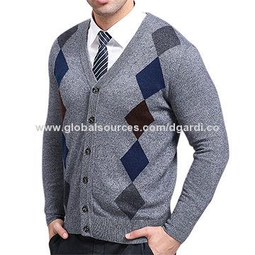 d8760b666 Classic V neck intarsia knitting men s argyle sweater vest