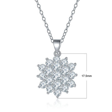 China Women 925 Sterling Silver Chain Necklace With White Crystal Adjustable Simple Style Gift For Gf Wife On Global Sources