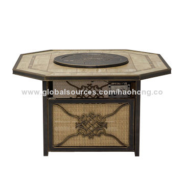 Outdoor Textile Hexagonal Fire Pit Table China Outdoor Textile Hexagonal  Fire Pit Table