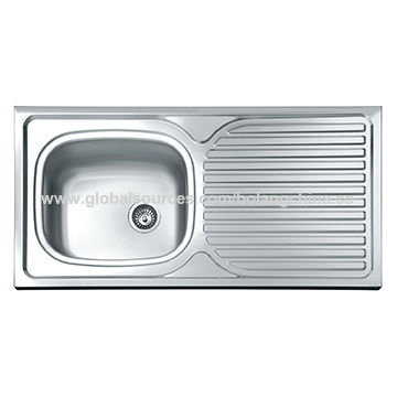 Chinakitchen Sink Stainless Steel Sink One Step Forming Single Bowl With Drain Board Bl929 On Global Sources