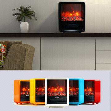 China Portable Mini Cube Electric Fireplace With Realistic Coal Effect  Small Electric Fireplaces