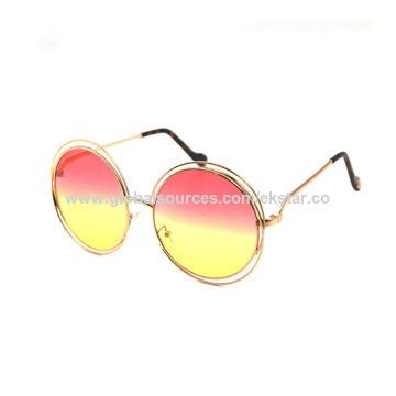 China Wire rim frame fashion sunglasses