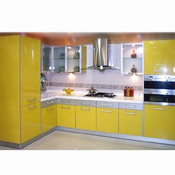 Charmant Kitchen Cabinet Doors In Various Shapes, Made Of High Gloss UV Lacquered  With Silver PVC Edges