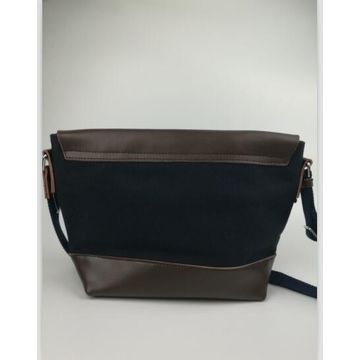 China Top genuine leather shoulder bags, OEM/ODM, made of genuine leather & cotton canvas