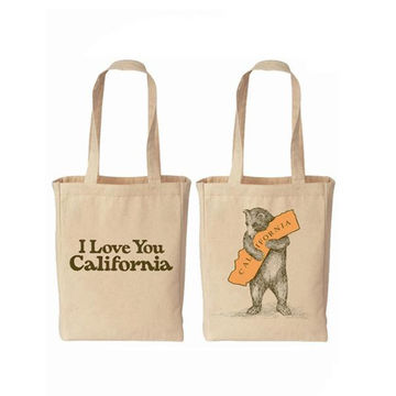 China Oem Custom Logo Printing Recyclable Tote Ping Bag Handle Calico Polyester Cotton Canvas Ba