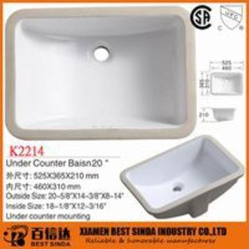 Rectangular ceramic sink, ceramic sanitary ware | Global Sources