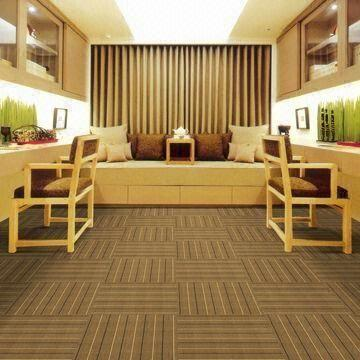 Carpet Tiles With Stripe Style Improved Bitumen Measures