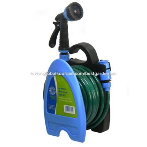 garden hose hanger. China Min Hose Reel Set, 10m, Plastic Wall Mountain Garden Hanger Set