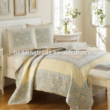 China 100 Cotton Printed Quilting King Size Quilt Set