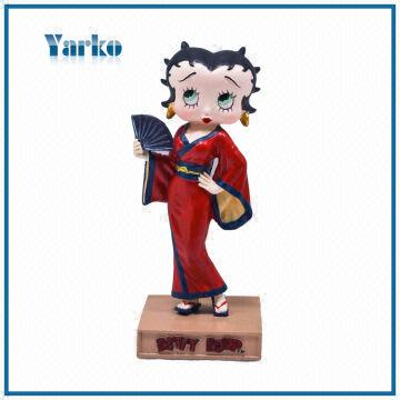 Cheap Promotional Item Japanese Geisha Betty Boop Resin Statue ...