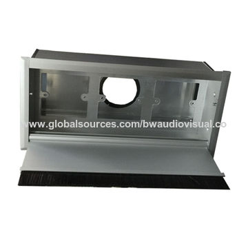 Astounding Aluminum Office Desk Cable Grommet Brushed Aluminum Panel Tabletop Wiring Digital Resources Minagakbiperorg