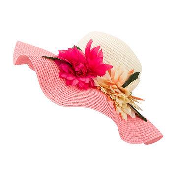 5c364faacb6 ... China Women s hat summer flower hat beach cap lady straw hat wide brim  ...