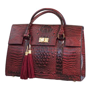 China 100 Cowhide Crocodile Leather Handbag Real Bag For Women