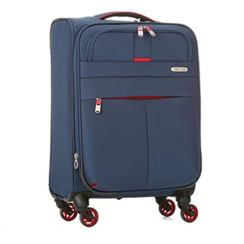 4cb0567178f1 China 4-spinner wheels softside polyester EVA luggage travel ...
