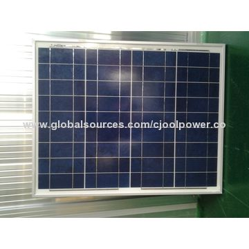 China Wholesales 12V 50W poly solar panel with 156 cell