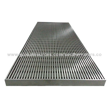 China Stainless Steel Linear Floor Grate Waste Drain, Non-clogging and Easy Leakage