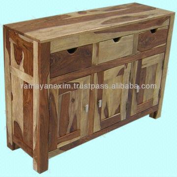 ... India Wooden Buffet 3 Drawer 3 Door