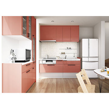 Artia Unique Style Macaron Pink New Mdf Cabinet Solid Color High Gloss Lacquer Kitchen Cabinets Global Sources