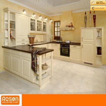 European style white oak solid wood kitchen cabinets for Europa kitchen cabinets