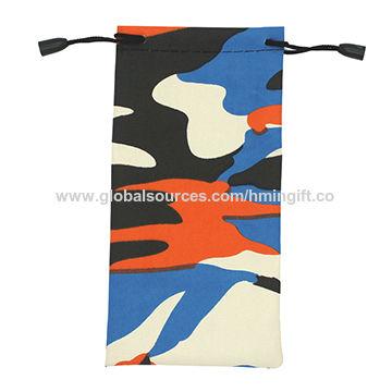 74911771b8b China Custom Screen Printied Microfiber Glasses Bag Pouch With Logo ...