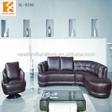 China Fashion Newland Furniture Leather Round Corner Sofa Nl H186