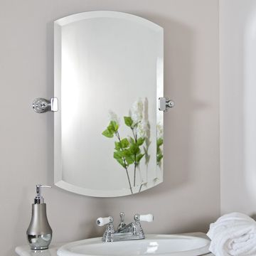 decorative3mm 4mm 5mm 6mm frameless bathroom mirror with polished