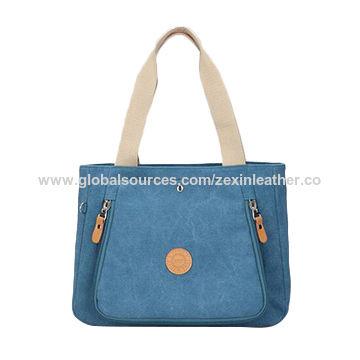 China New Design Promotional Fashion Custom Promotion Canvas Handbag ... 0ced299063e7b