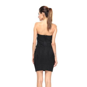 China Evening dress, off shoulder deep V-neck women's bodycon bandage night party