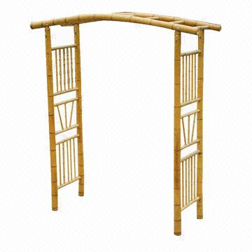 Natural Bamboo Door Frames for Garden Arch, with Kenninjigake and ...