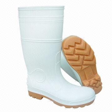 Working safety shoes PVC plastic rain boots Water-resistant
