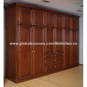 uk availability 3f228 56966 Solid wood wardrobe, cherry color, size can be customized ...