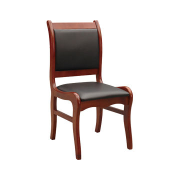 ... China Low Price Black Comfortable Solid Wooden Chair