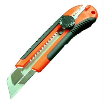 cutter blade. taiwan snap-off cutter knife with 25mm blade and rubber grip handle