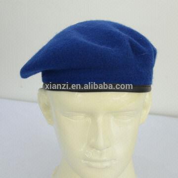 53e9a7d39f16a ... China diversa boina azul color-real de los militares de la boina