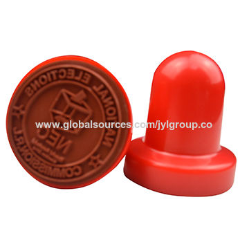 2015 New Style High Quality Plastic Round Rubber Stamp Materials