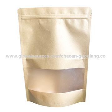 China Standing Zipper Bag With Clear Window Custom Print