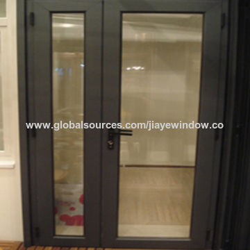 China Double Glazing Aluminum Residential Exterior Doors On Global