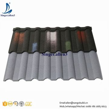 China Er Price Stone Chip Coated Colour Steel Roof Roofing Tile For Morocco